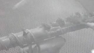 エラストマーの清掃(射出成形用スクリュ)