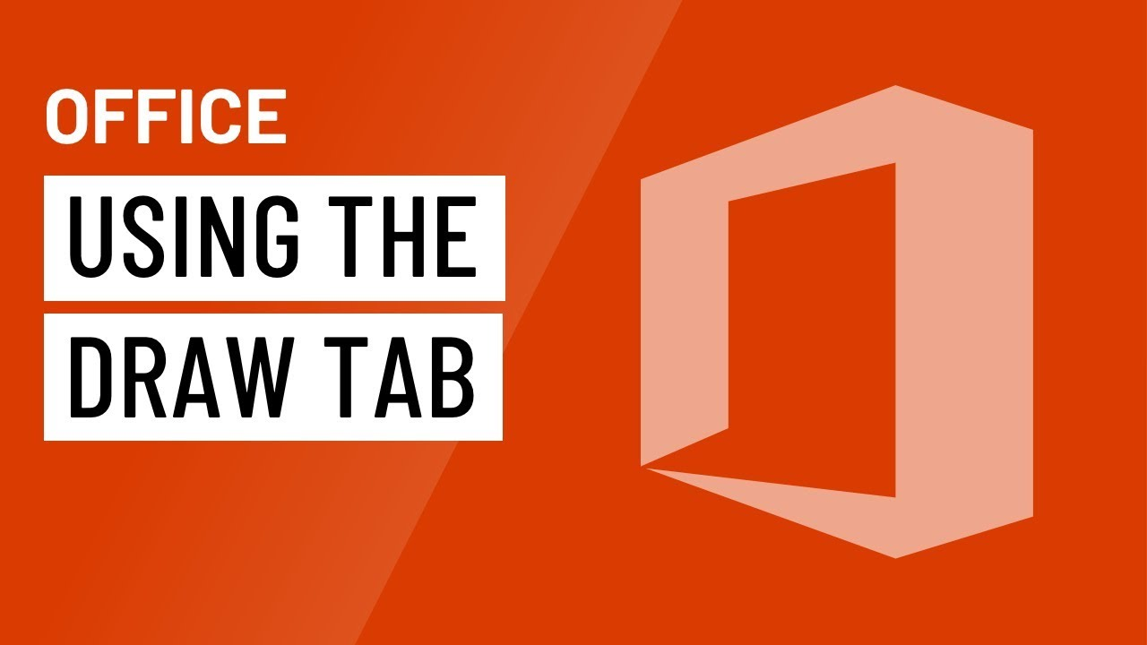 Office: Using the Draw Tab