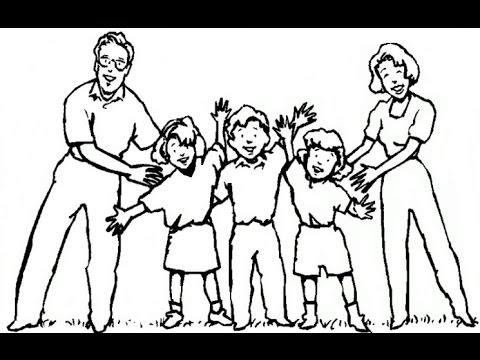 How To Draw A Happy Family - Easy Drawing Lesson For Kids - Drawing Tutorial - YouTube
