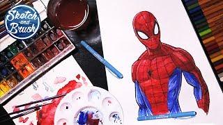 Уроки рисования: Человек-паук / Spider-Man / MARVEL