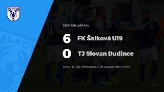 Zostrih zápasu FK Šalková U19 - TJ Slovan Dudince, 29.8.2017 o 14:00