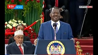 "Raila Odinga: This is the Kenya that we want, a united Kenya"""