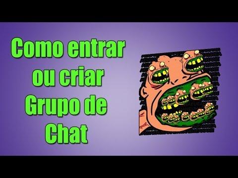 Como Criar/entrar Grupo De Chat!! League Of Legends