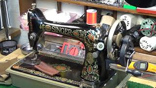 FOR SALE - Gorgeous 1924 Singer 66 RedEye Handcrank - Get off the Grid..Sew 14 oz Leather & MORE!!