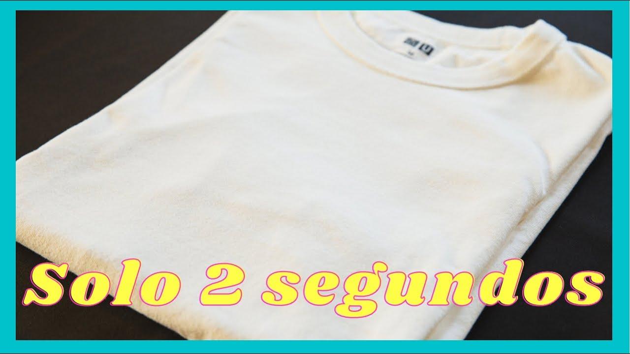 Cómo Doblar Una Camiseta En 2 Segundos Youtube