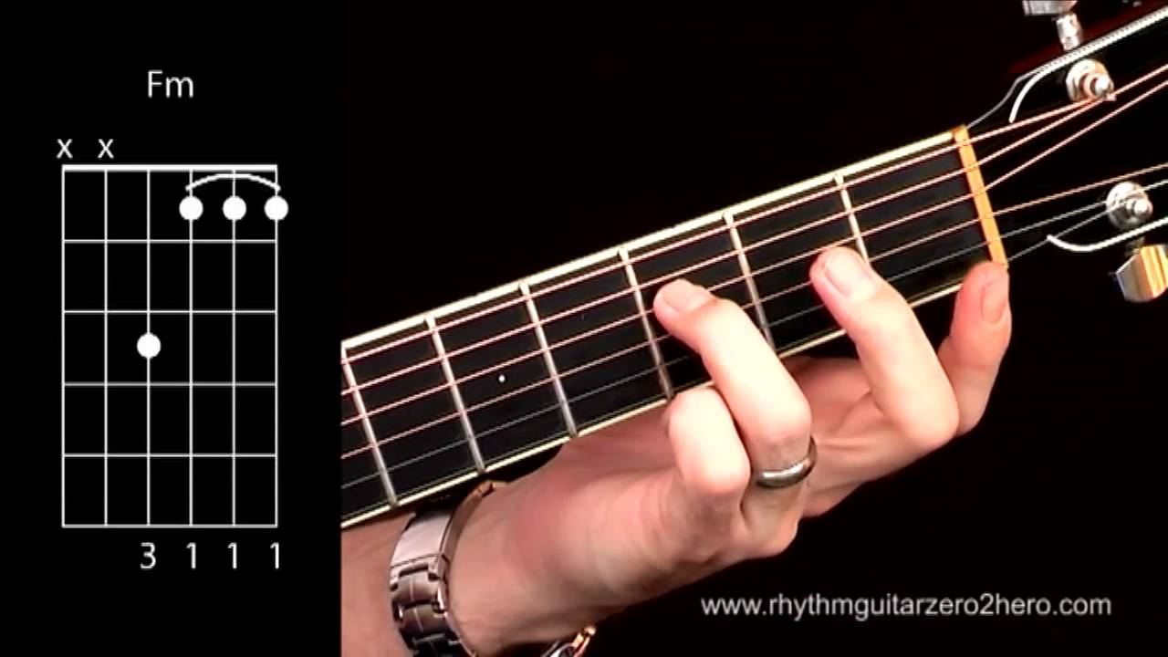 Acoustic Guitar Chords Learn To Play F Minor Youtube