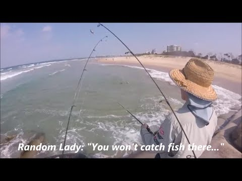 NOVELTY Whiting Fishing! Land Based Surf/Beach Fishing Sunshine Coast