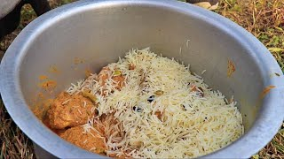 COOKING HYDERABADI CHICKEN DUM BIRYANI COOKING IN WILD