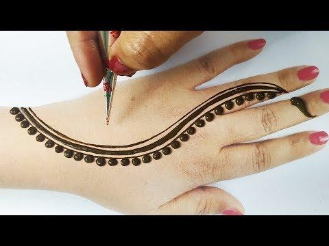 आसान मेहँदी लगाना सीखे - सुंदर अरेबिक मेहँदी डिज़ाइन - तीज, रक्षाबंधन स्पेशल मेहँदी - Stylish Mehndi