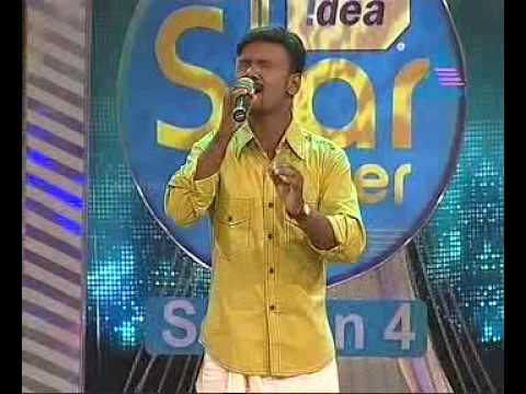 "Joby John in ""Nature Song Round"" of Idea Star Singer Season 4, a music reality show in Asianet TV"
