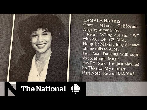 CBC News: The National: Kamala Harris keeps quiet about Canadian ties