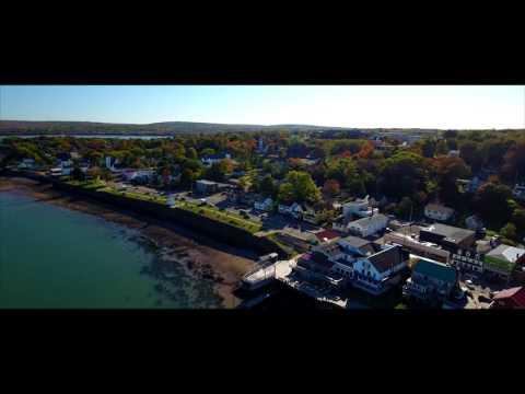 Aerial of Digby, Nova Scotia in 4K Ultra HD.