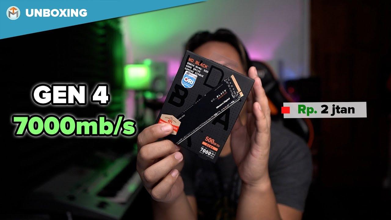 Unboxing SSD M.2 Nvme Gen 4 WD SN850 - Eps 94