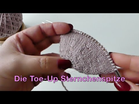 Youtube-Tutorial: Die Toe Up Sternchenspitze