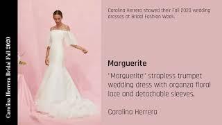 Carolina Herrera Bridal Fall 2020
