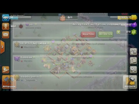 coc live streaming mauritius clan  #review base + live attacks