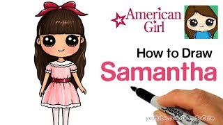 How to Draw Samantha Easy | American Girl Doll