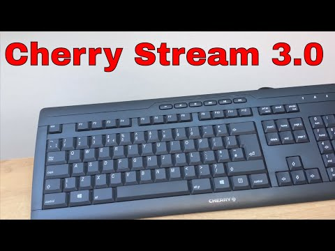 CHERRY Stream 3.0 Wired USB PC Keyboard Black Unboxing And Review