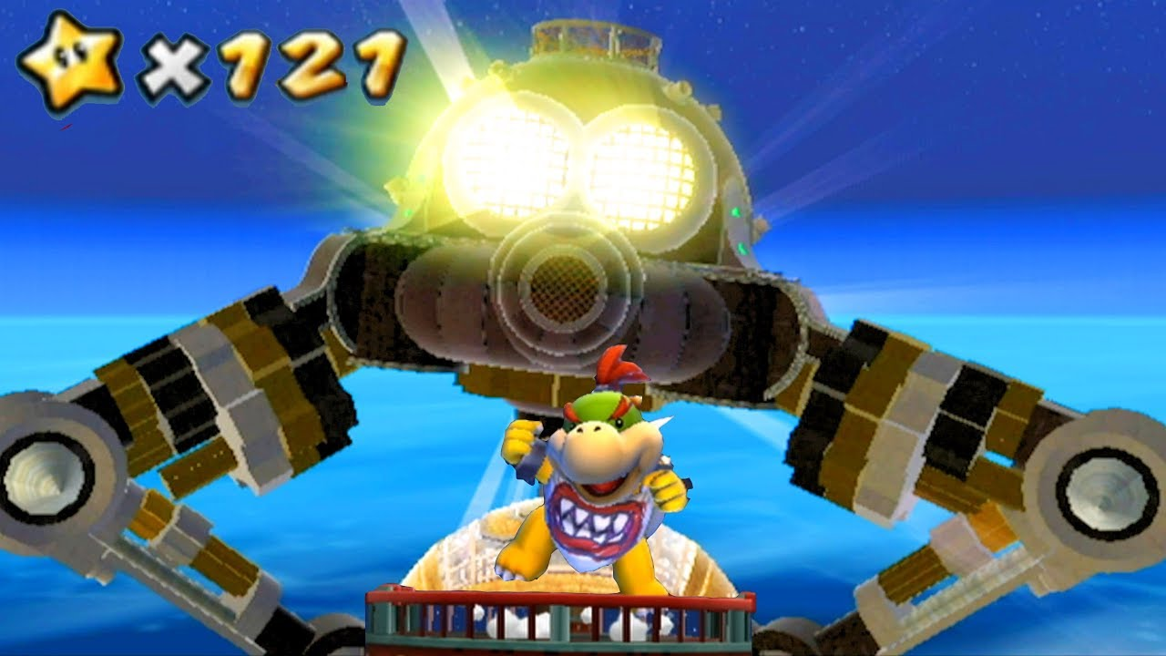 Super Mario Galaxy #6 Bowser Jr's Robot Reactor Boss & 4 Stars - All 121  Stars 4k Walkthrough