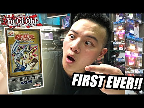 FIRST EVER YU-GI-OH! BOOSTER SET! + MOST EXPENSIVE YUGIOH CARD?! $44,000?! (Bangkok OCG Store Tour)