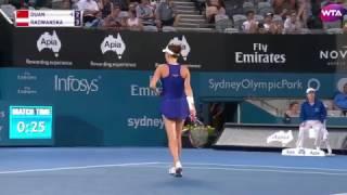 Apia International Sydney Quarterfinal Shot of the Day | Agnieszka Radwanska