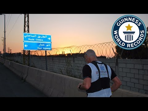Fastest crossing of Lebanon on foot – Guinness World Records