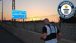 Fastest crossing of Lebanon on foot - Guinness World Records