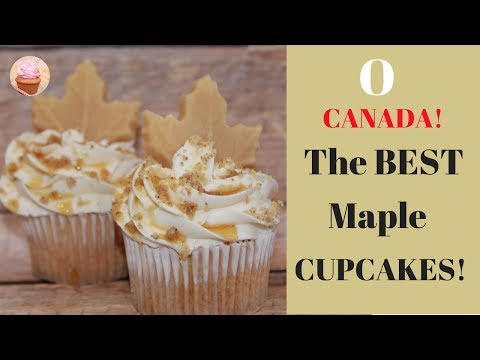 MAPLE CUPCAKES | How To Make Maple Syrup Cupcakes | Cupcake Decorating