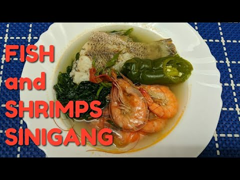 #FISH And SHRIMPS SINIGANG #OFW ULAM