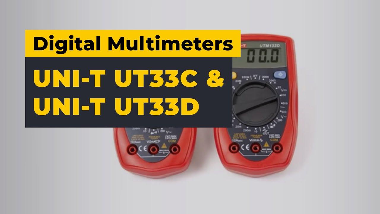 UNI-T UT33C & UNI-T UT33D Digital Multimeters — Video Review