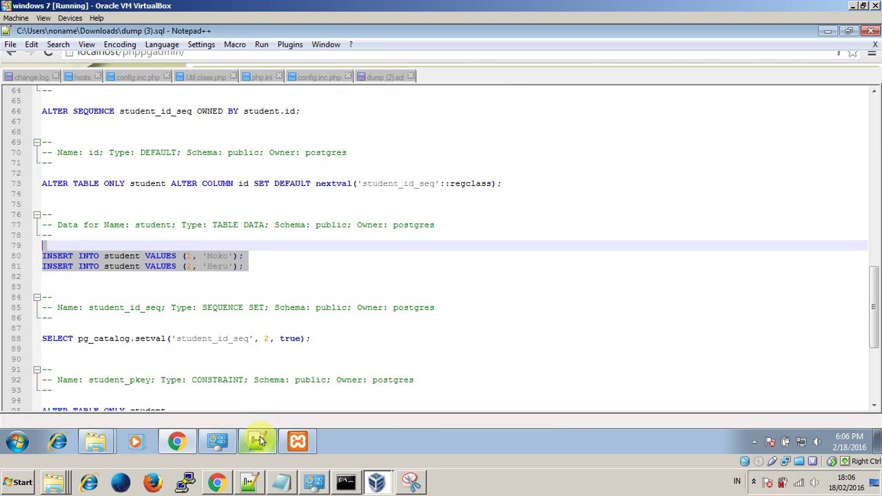 Phppgadmin problem - empty SQL dump after export - YouTube