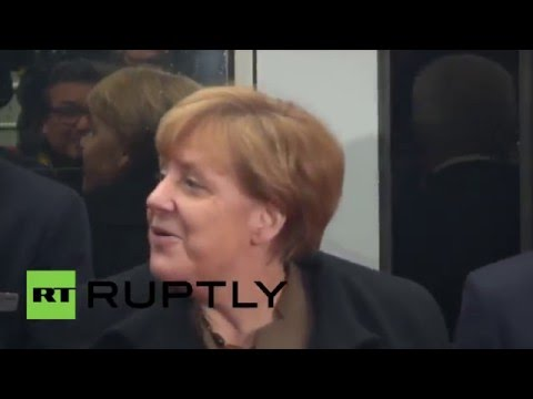 Germany: Merkel inaugurates new VDE 8 express train line in Leipzig