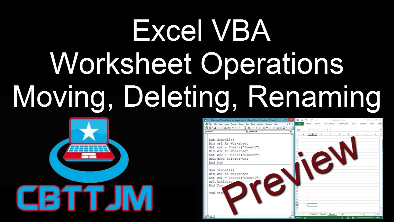 Comprehensive VBA Part 10 Excel VBA Worksheets Copy Move – Vba Copy Worksheet