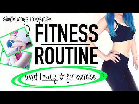 Easy Summer Fitness Routine Ideas For Lazy People ♥ My Real Exercise Routine 2015 ♥ Wengie