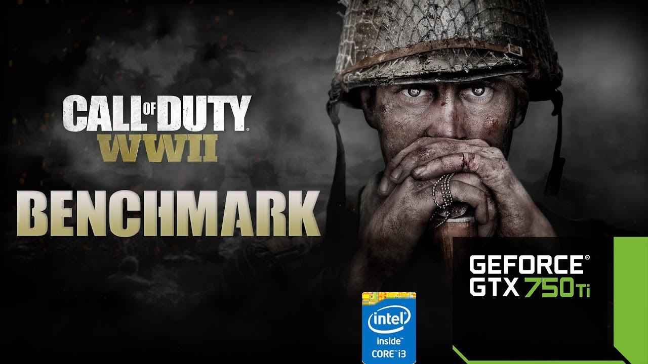 Call Of Duty WW2 - GTX 750Ti - i3 4130 - 8GB RAM BENCHMARK 60FPS