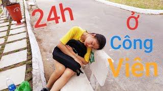 Thử Thách 24 Giờ Sống Ở Công Viên Thỏ Trắng Phần 1 | Như Quỳnh Kids