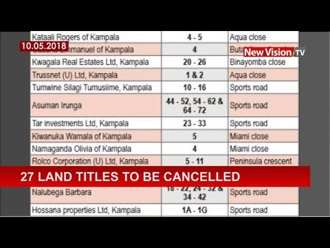 27 land titles to be cancelled