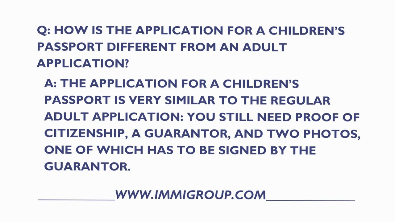 How is the application for a canadian childrens passport how is the application for a canadian childrens passport different from an adult application aiddatafo Gallery