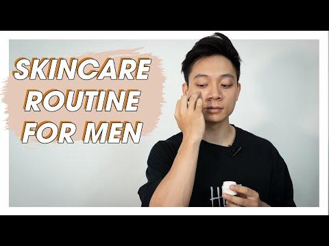 Chăm sóc da mặt cho Nam giới   My Basic Skincare Routine   SHINPHAMM