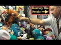 Claw Machine Watching The Vendor FILL The MACHINE Crazy WINS!!!!!