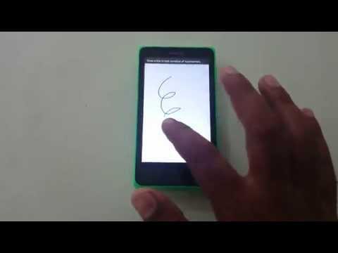 Nokia X Touch Screen Test
