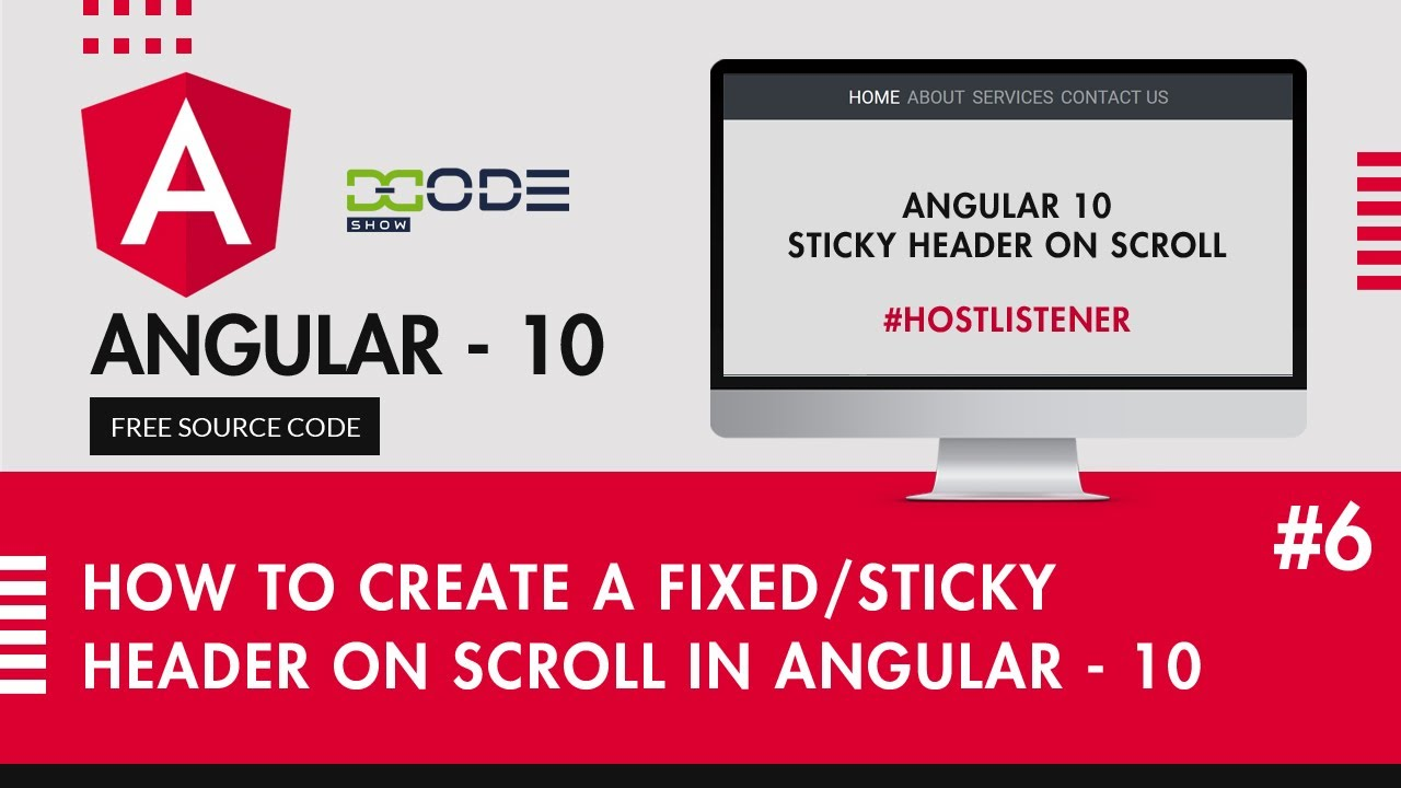 How To Create A Fixed/Sticky Header on Scroll In Angular 10   Sticky Header