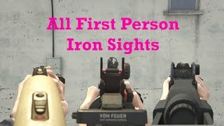 GTA 5 All Weapons and Iron Sights in First Person (GTA 5 Next Gen Gameplay)