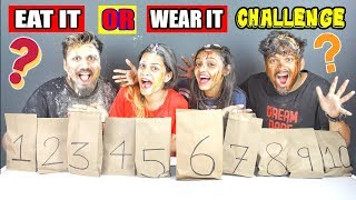EAT IT OR WEAR IT CHALLENGE WITH A TWIST | EATING CHALLENGE | FUN | COMEDY | Food Challenge(Ep-144)