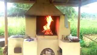 Печь для казана и мангал-барбекю своими руками