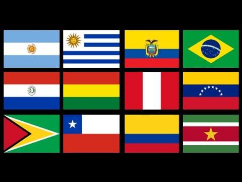 اسماء دول امريكا الجنوبية وعواصمها واعلامها وموقعها الجغرافى Youtube