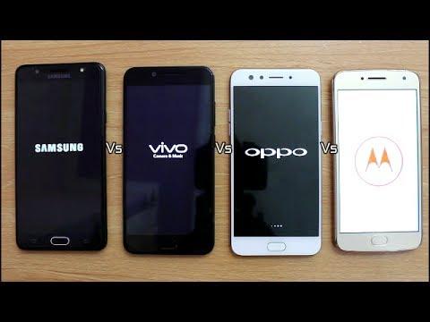 Samsung J7 Max Vs Vivo V5s Vs Oppo F3 Vs Moto G5 Plus SpeedTest Comparison I Hindi
