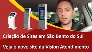 Lançado o Novo Site da Vision Atendimento - Crianção de Sites em São Bento do Sul - Samuca Webdesign