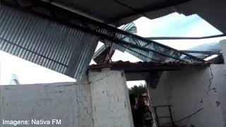 Gangorinha: 100 dias de ter caído, moradores aguarda que administração restaure a coberta da qudra.