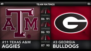GEORGIA VS TEXAS A&M NCAA 20 SIMULATION NCAA 14 UPDATED ROSTERS